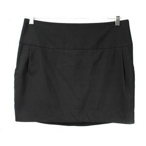 Organic John Patrick Black Recycled Wool Skirt